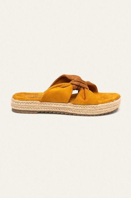 žltá Answear - Šľapky Dámsky