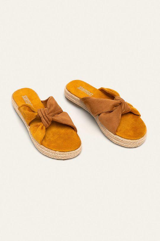 Answear - Šľapky žltá