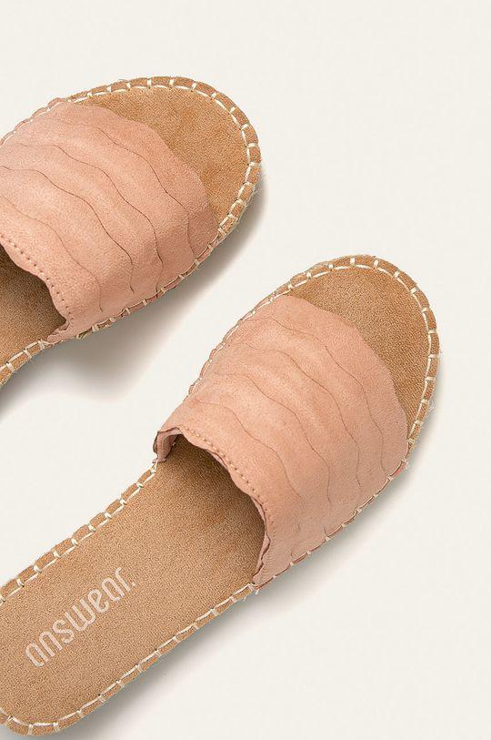 Answear - Papuci  Gamba: Material textil Interiorul: Material sintetic, Material textil Talpa: Material sintetic