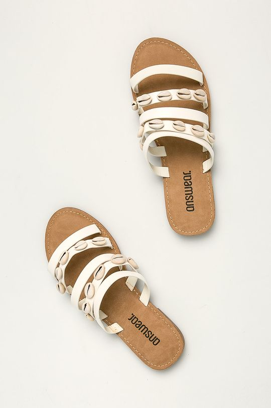 bílá Answear - Pantofle