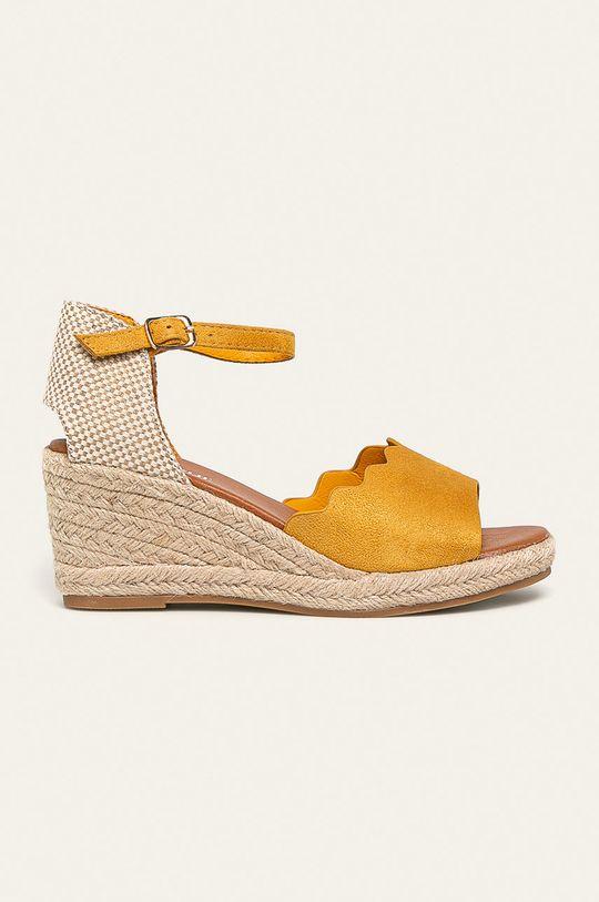 galben Answear - Sandale De femei