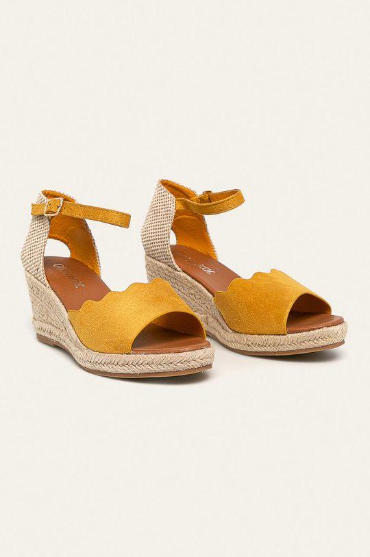 Answear - Sandále žltá