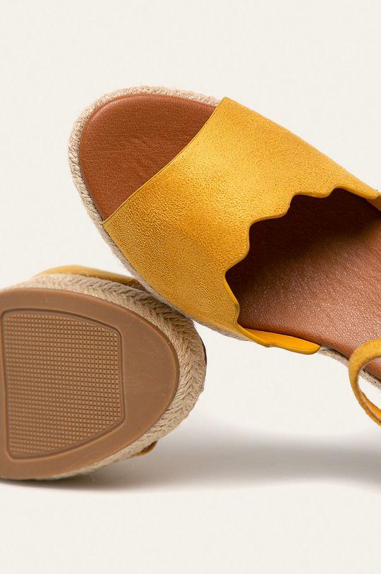 žltá Answear - Sandále