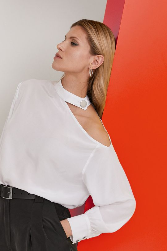 biały Answear Lab x Paulina Krupińska Bluzka z kolekcji urodzinowej Damski