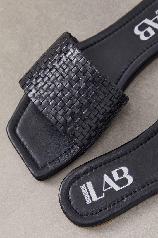 Answear Lab - Klapki skórzane Cholewka: Skóra naturalna, Wnętrze: Skóra naturalna, Podeszwa: Materiał syntetyczny