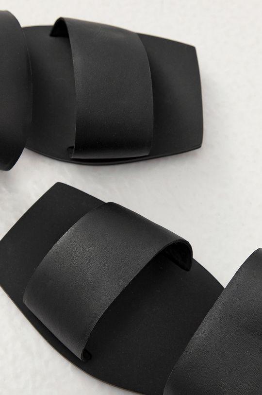 Answear Lab - Kožené šľapky z narodeninovej kolekcie  Zvršok: Prírodná koža Vnútro: Syntetická látka Podrážka: Syntetická látka
