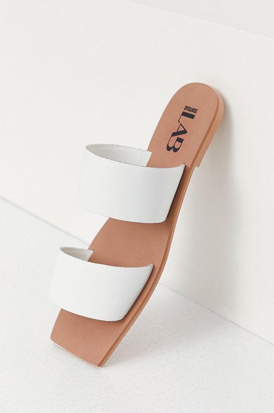 Answear Lab - Kožené pantofle z narozeninové kolekce  Svršek: Přírodní kůže Vnitřek: Umělá hmota Podrážka: Umělá hmota