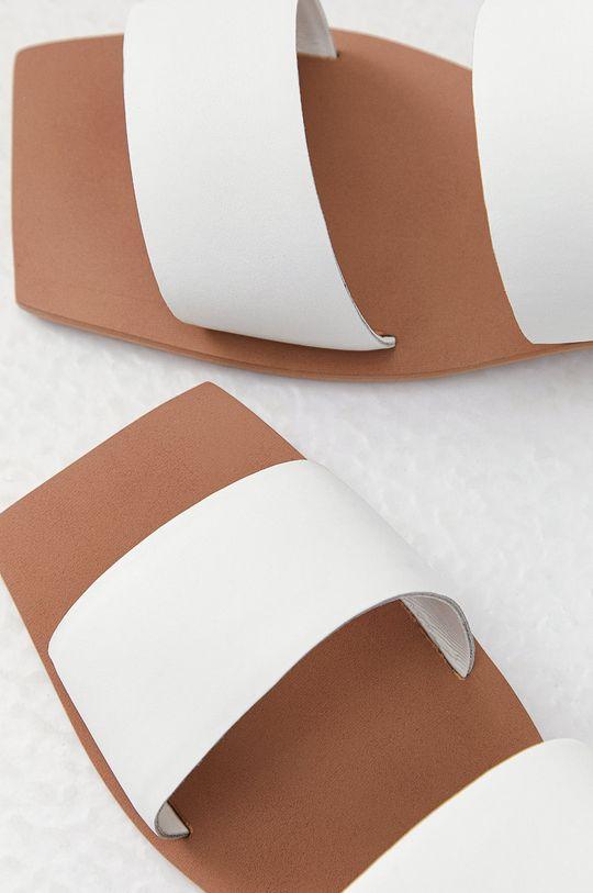bílá Answear Lab - Kožené pantofle z narozeninové kolekce