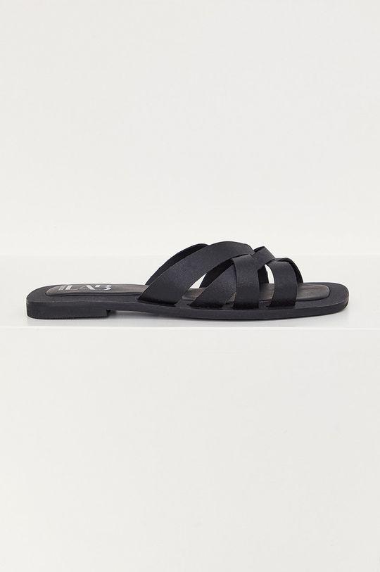 černá Answear Lab - Kožené pantofle Dámský
