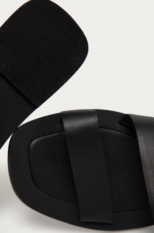 černá Answear Lab - Kožené pantofle