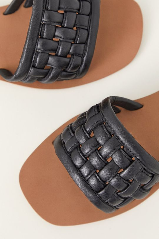 Answear Lab - Kožené pantofle  Svršek: Přírodní kůže Vnitřek: Umělá hmota Podrážka: Umělá hmota