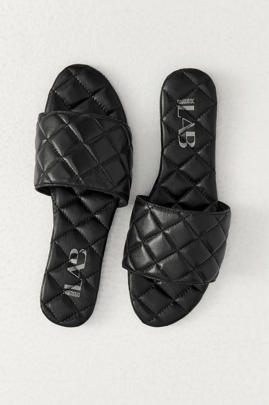 Answear Lab - Kožené pantofle černá