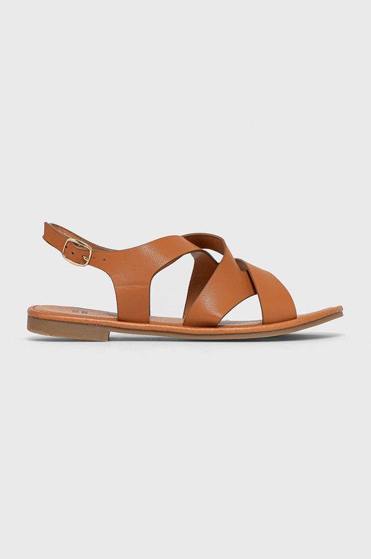 brązowy Answear Lab - Sandały Damski