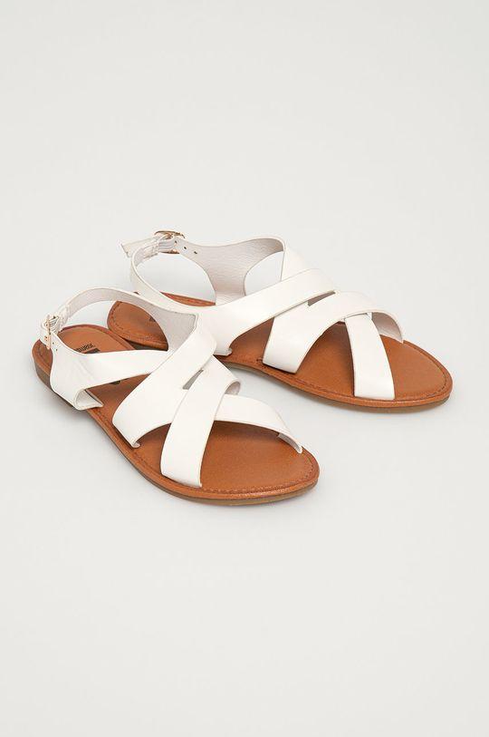 Answear Lab - Sandále biela