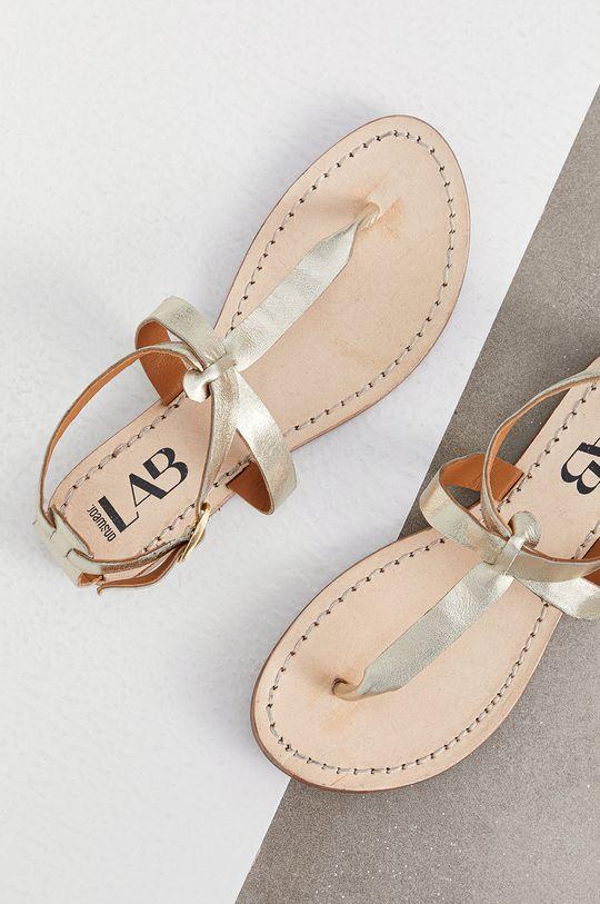Answear Lab - Sandały skórzane złoty