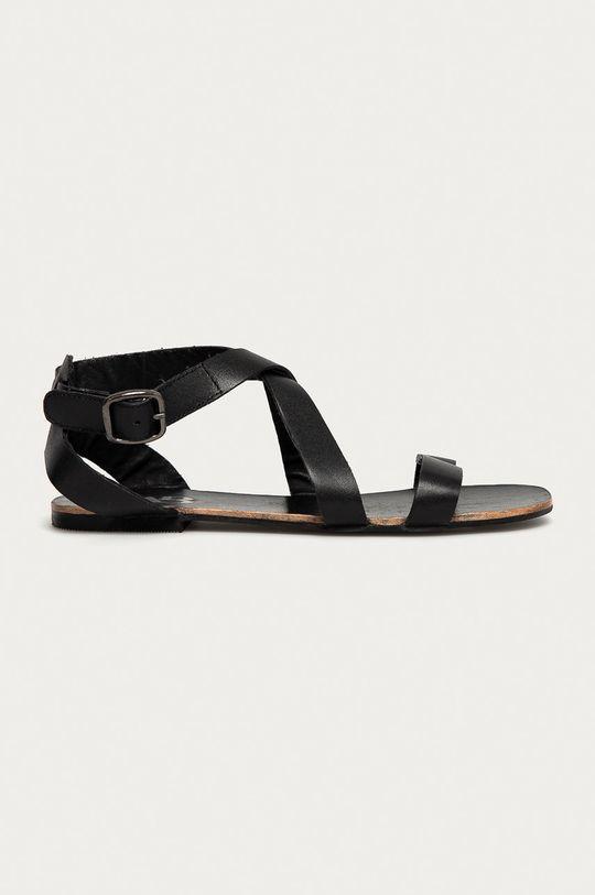 czarny Answear Lab - Sandały skórzane Damski