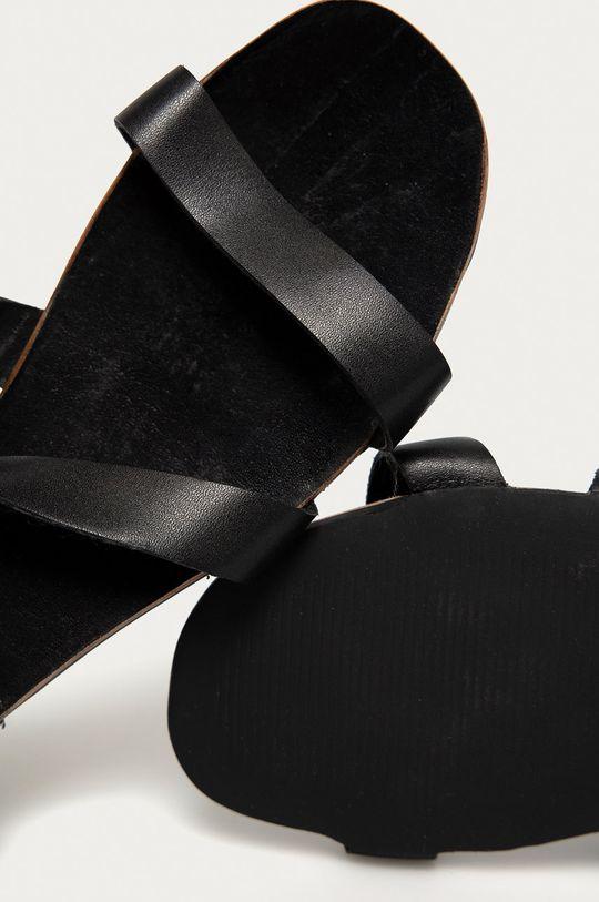 czarny Answear Lab - Sandały skórzane