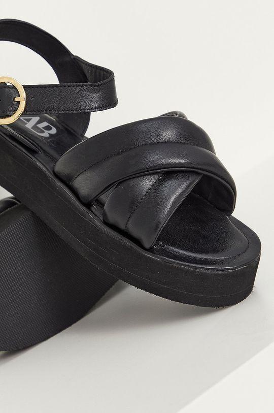 Answear Lab - Kožené sandále čierna