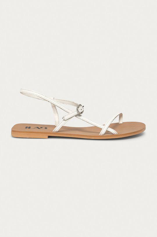 biały Answear Lab - Sandały skórzane Damski