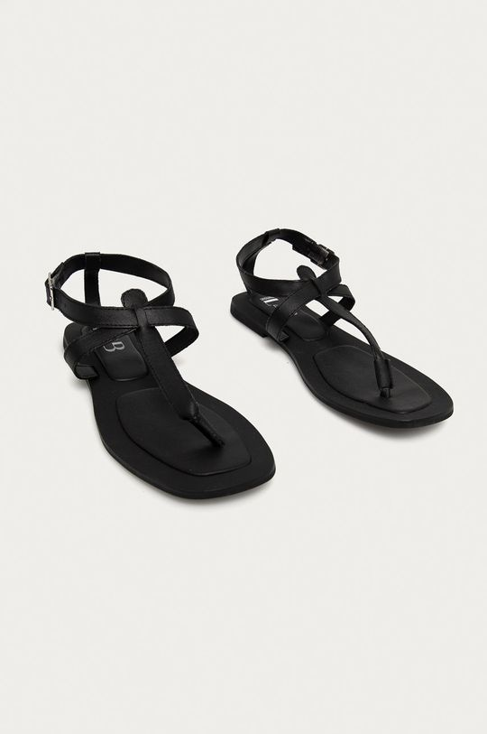 Answear Lab - Kožené sandály z narozeninové kolekce černá