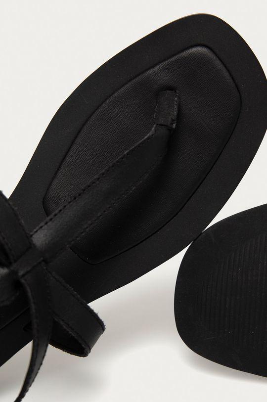 černá Answear Lab - Kožené sandály z narozeninové kolekce