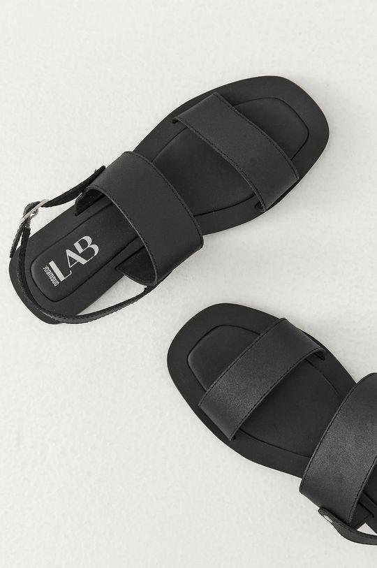 Answear Lab - Sandały skórzane czarny