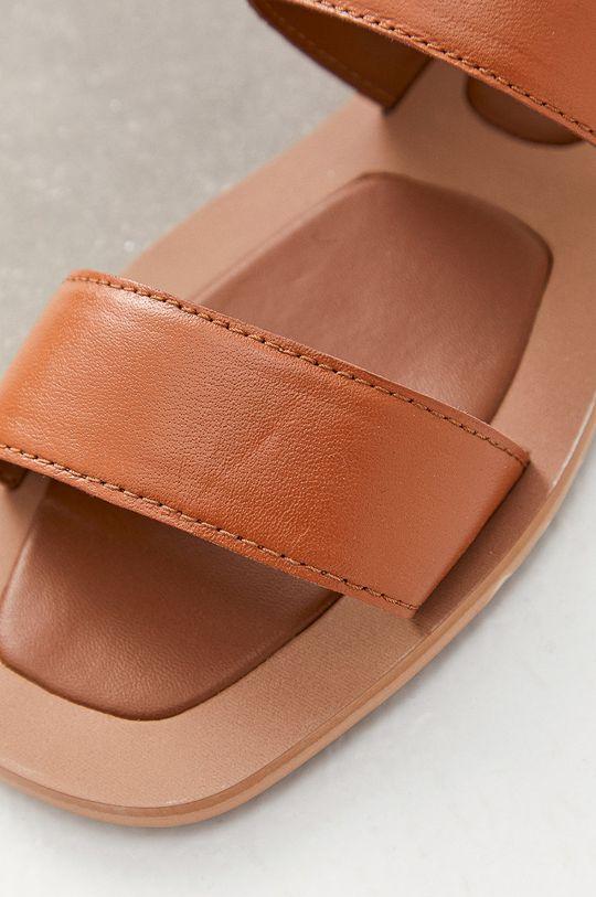 Answear Lab - Sandały skórzane Cholewka: Skóra naturalna, Wnętrze: Materiał syntetyczny, Podeszwa: Materiał syntetyczny
