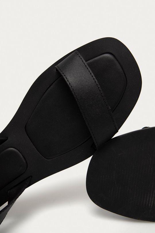 čierna Answear Lab - Kožené sandále