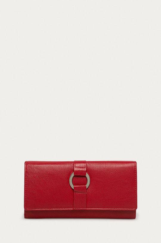 červená Answear Lab - Kožená peňaženka Dámsky