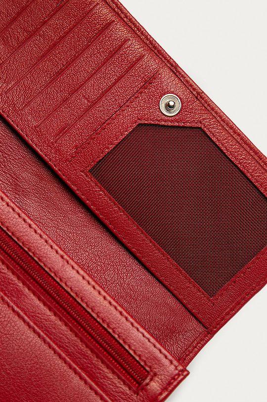 červená Answear Lab - Kožená peňaženka