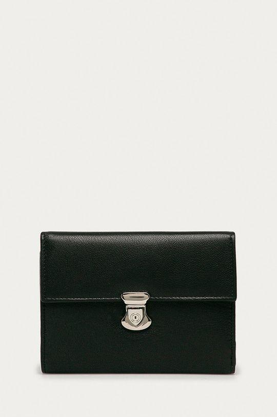 černá Answear Lab - Kožená peněženka Dámský