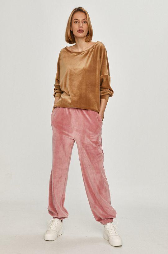 Answear Lab - Kalhoty starorůžová