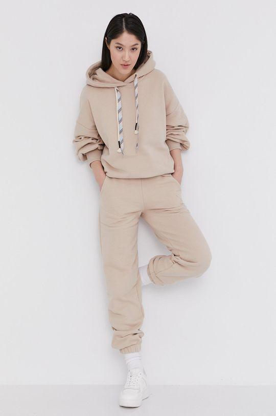 beżowy Answear Lab - Spodnie Natural Flow Damski