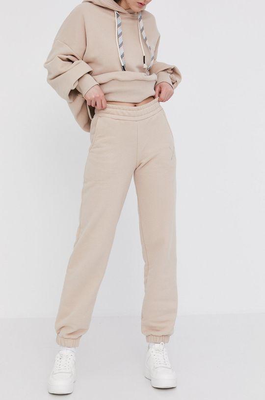 Answear Lab - Spodnie Natural Flow beżowy