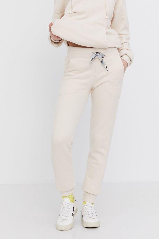 kremowy Answear Lab - Spodnie Natural Flow Damski
