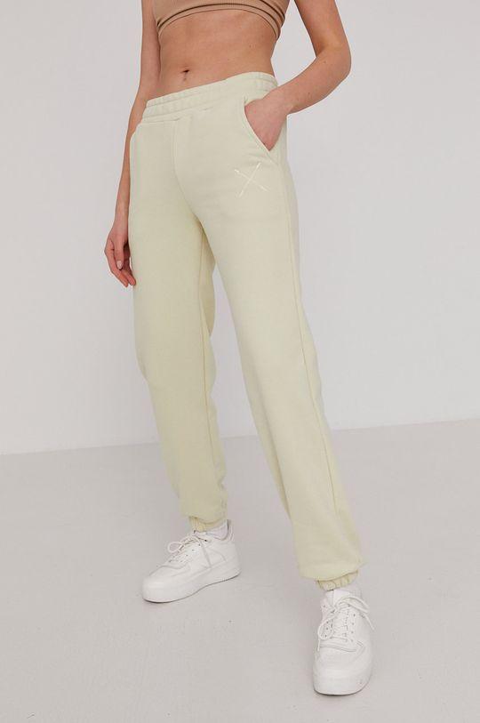 miętowy Answear Lab - Spodnie Natural Flow Damski