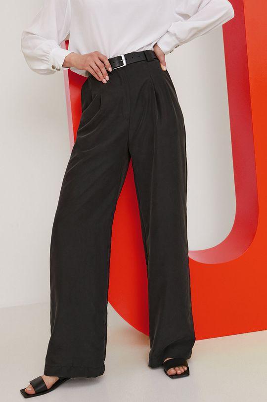 czarny Answear Lab x Paulina Krupińska Spodnie z kolekcji urodzinowej Damski