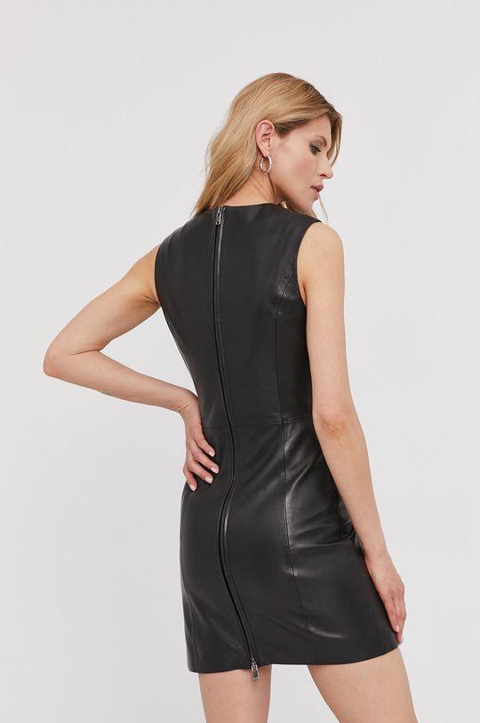 Answear Lab - Kožené šaty z narodeninovej kolekcie  100% Prírodná koža