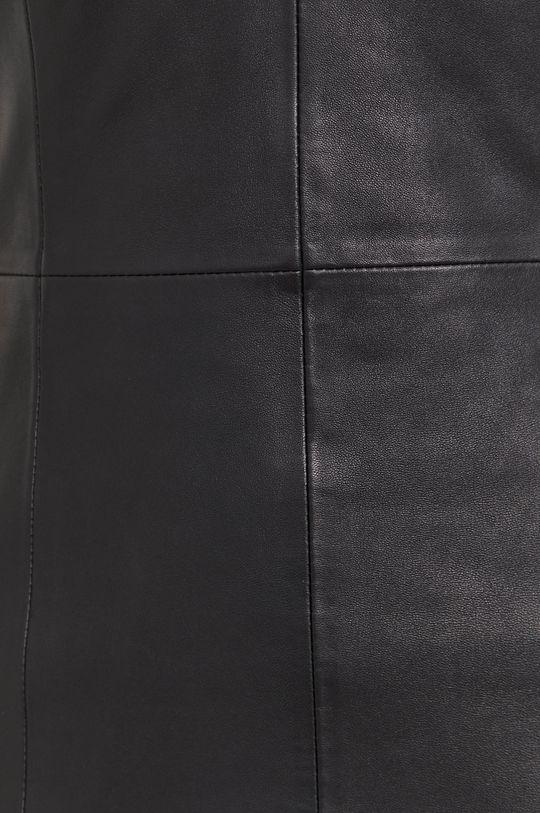 Answear Lab - Kožené šaty z narodeninovej kolekcie