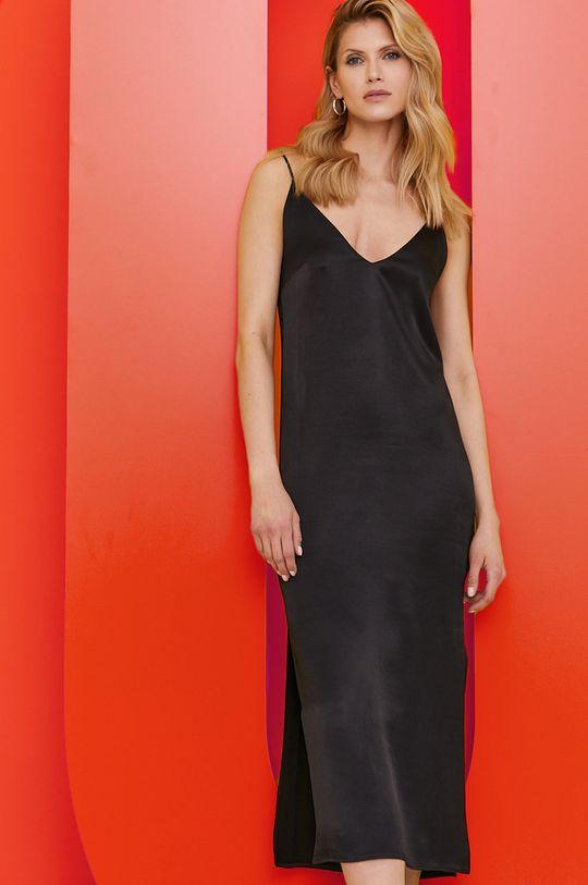 czarny Answear Lab - Sukienka z kolekcji urodzinowej Damski