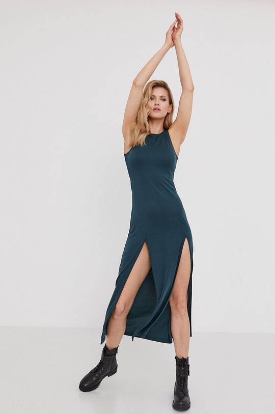 tyrkysová modrá Answear Lab - Šaty z narodeninovej kolekcie Dámsky