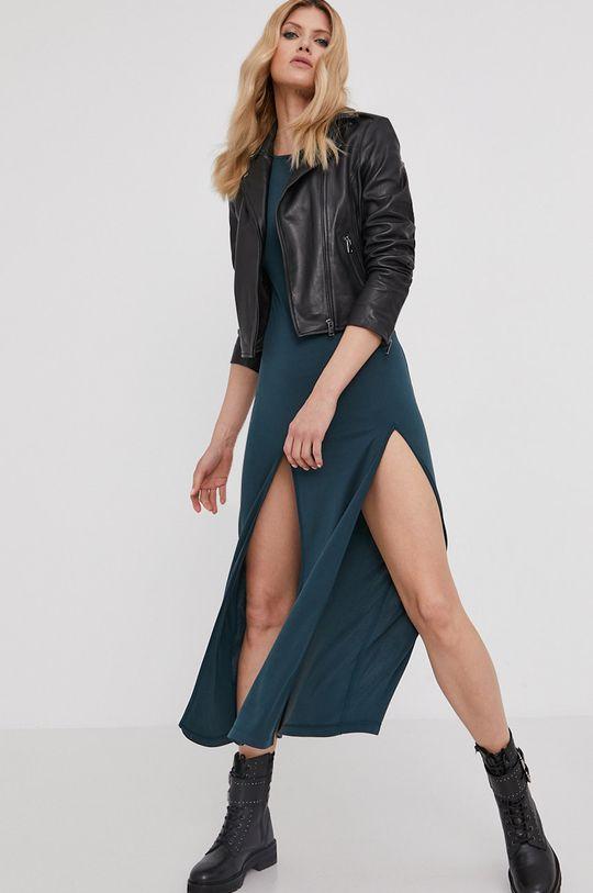 Answear Lab - Šaty z narodeninovej kolekcie tyrkysová modrá