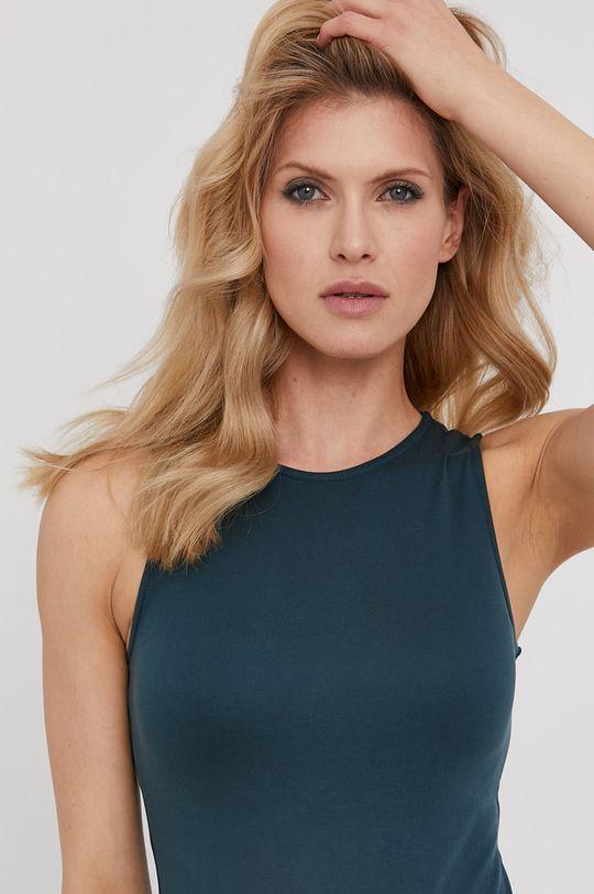 tyrkysová modrá Answear Lab - Šaty z narodeninovej kolekcie