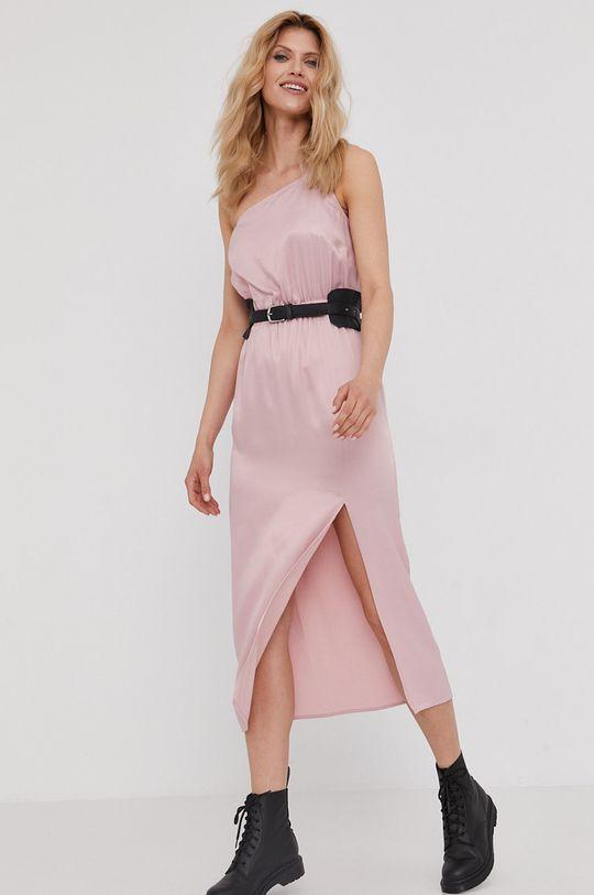 Answear Lab - Šaty z narodeninovej kolekcie ružová