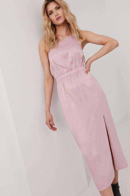 ružová Answear Lab - Šaty z narodeninovej kolekcie