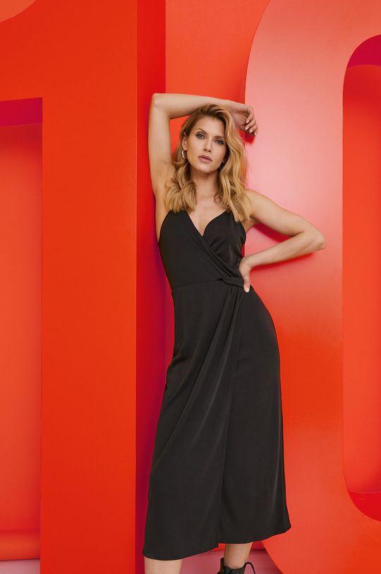 čierna Answear Lab - Šaty z narodeninovej kolekcie Dámsky