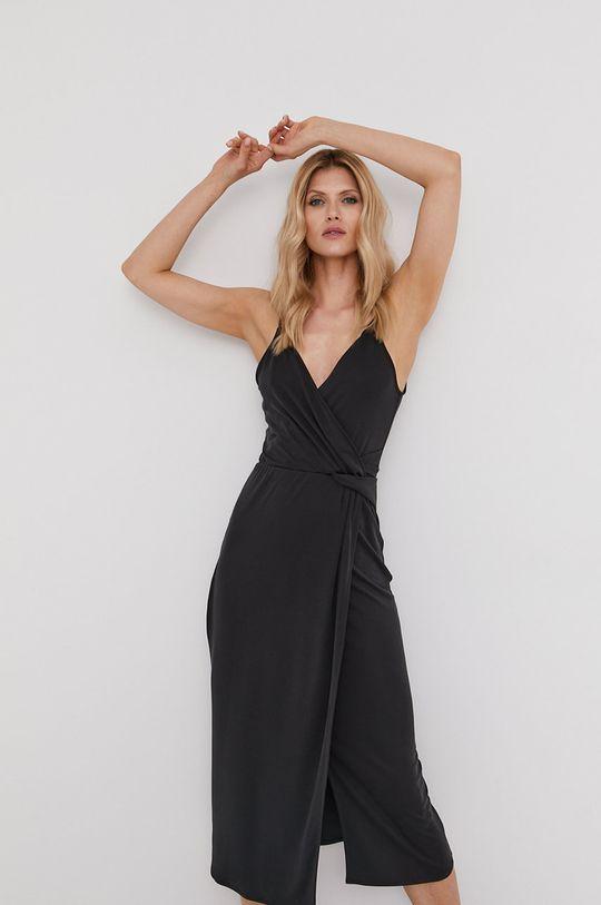 čierna Answear Lab - Šaty z narodeninovej kolekcie