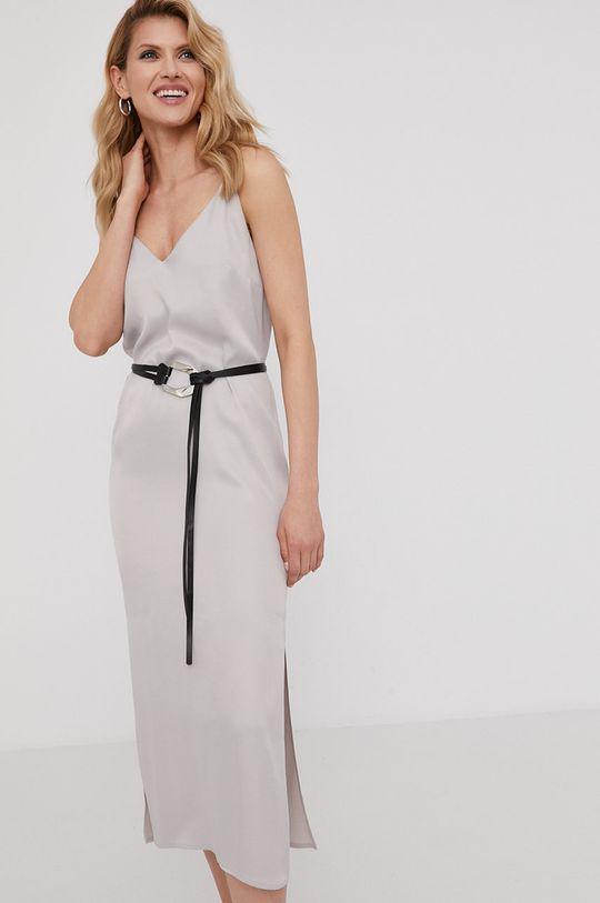 Answear Lab x Paulina Krupińska Sukienka z kolekcji urodzinowej srebrny