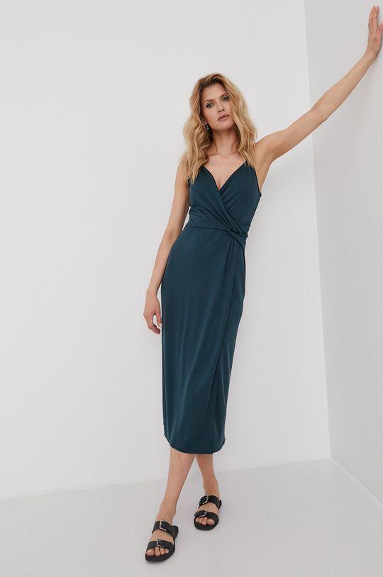 Answear Lab - Šaty z narozeninové kolekce tyrkysová