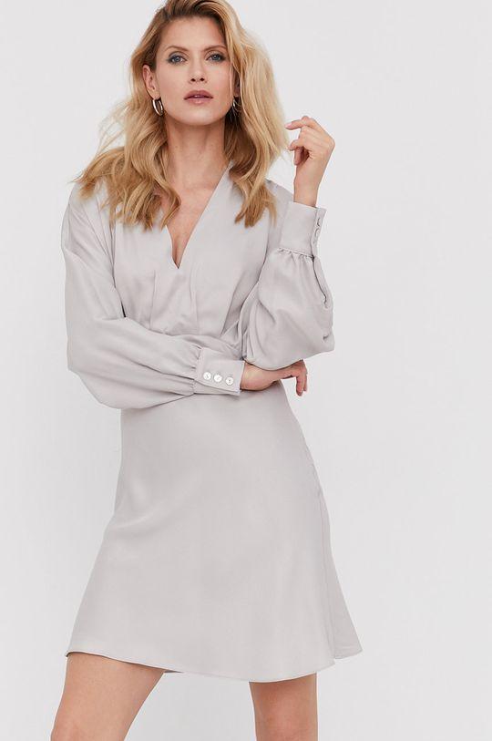 Answear Lab - Šaty z narozeninové kolekce stříbrná